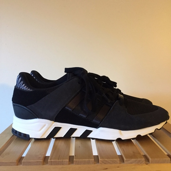 best loved 5485b 8aaaa Adidas EQT Support RF Black BY9623 Size 12 NEW